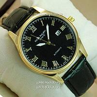 Часы Patek Philippe Geneve Automatic Black-Gold-Black