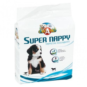 Пеленки для собак CaniAMici SUPER NAPPY 60 х 60 см, 10 шт.