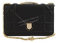 Стильный небольшая элитная матовая женская каркасная сумочка клатч с ремешком с цепи Suliya art. 235 черная
