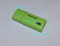 Картридер переходник Micro SD USB TransFlash зелёный