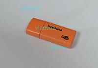 Картридер Card reader карт ридер переходник Micro SD USB TransFlash оранжевый