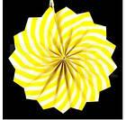 Бумажный веер с рисунком 30 см.  оранжевый, фото 4