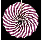Бумажный веер с рисунком 30 см.  оранжевый, фото 6