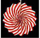 Бумажный веер с рисунком 30 см.  оранжевый, фото 8