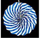 Бумажный веер с рисунком 30 см.  оранжевый, фото 10