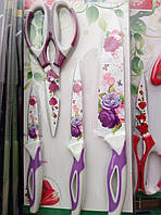 Набор ножей с керамическим покрытием 4/1+кухон.ножницы