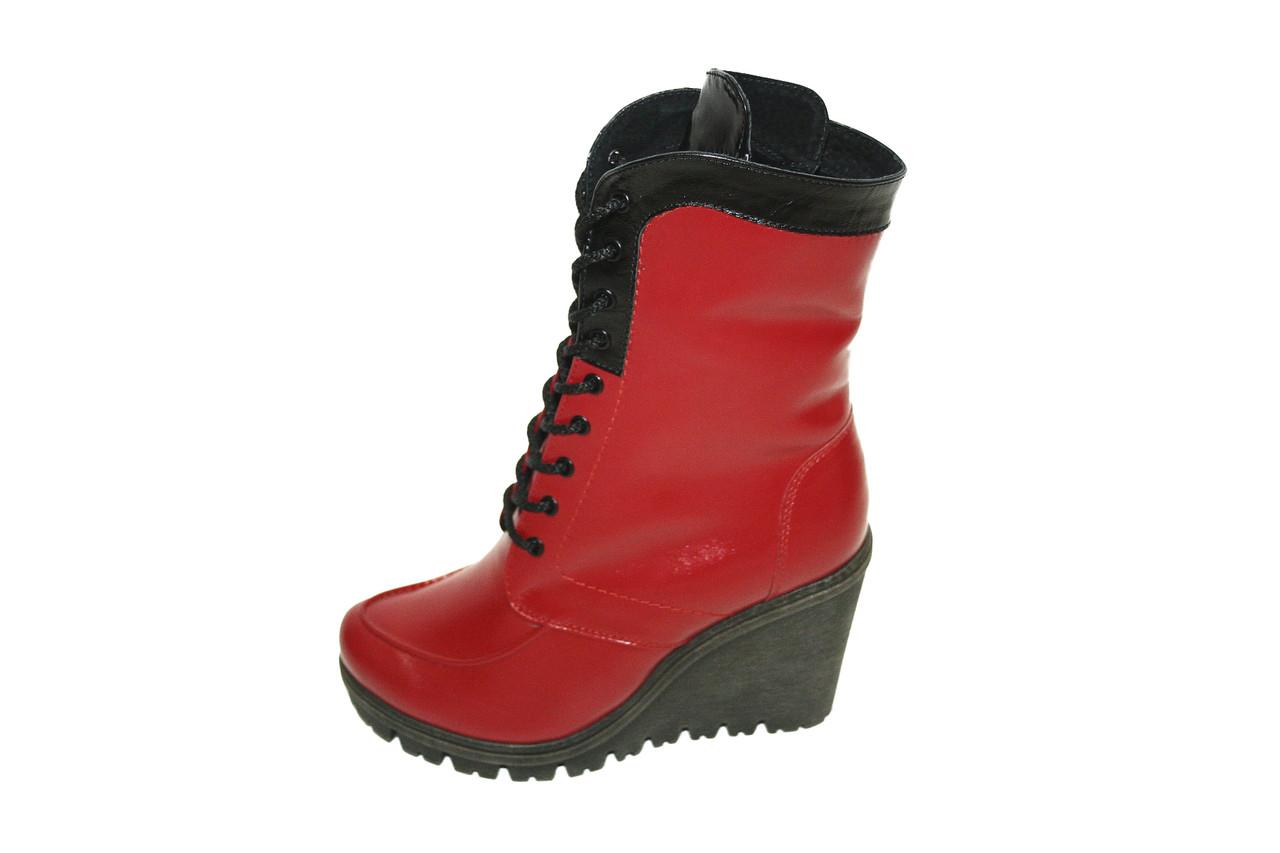 Сапоги зимние женские, красные. / women's boots 1750 к.х