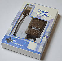 Сетевое зарядное устройство для Samsung Galaxy + кабель micro USB 2A чёрное