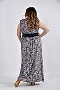 Женское цветное платье в пол 0531 размер 42-74 / большого размера, фото 2