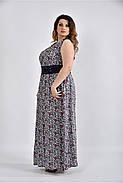 Женское цветное платье в пол 0531 размер 42-74 / большого размера, фото 3