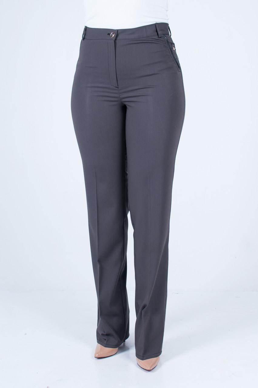 b7d35e6ba7c Женские брюки Стелла темно-серая  продажа