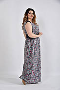 Женское цветное платье в пол 0531 размер 42-74 / большого размера, фото 4