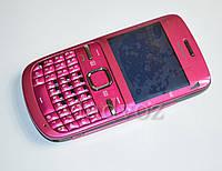 Корпус для Nokia C3 00 розовый с клавиатурой class AAA