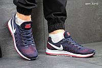 Мужские спортивные кроссовки Nike (синий с белым)