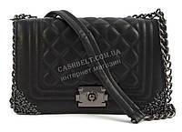 Стильный небольшая качественная женская каркасная сумочка клатч с ремешком с цепи Suliya art. 840-1 черная