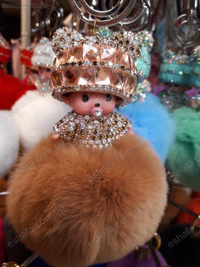брелок кукла с мехом
