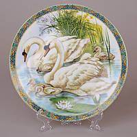 Тарелка декоративная Lefard фарфор Лебеди 20 см 921-0022