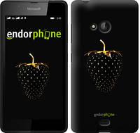 """Чехол на Microsoft Lumia 540 Dual SIM Черная клубника """"3585u-246-716"""""""