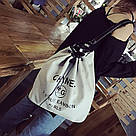 Рюкзак мешок под Chanel на затяжке., фото 4