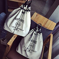 Рюкзак мешок под Chanel на затяжке.