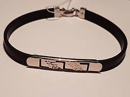 Срібний браслет з каучуком. Артикул 910032С 17