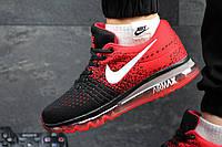 Мужские спортивные кроссовки Nike (красный с черный)