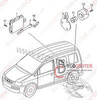 Блок управления прицепным оборудованием Volkswagen Caddy III (2004-……) 1K0907383D