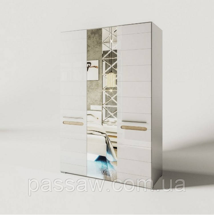 Шкаф 3Д зеркало Бьянко