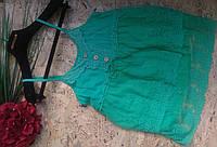Майка кружевная Мегги 13-8 зеленый 42-46р
