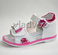 Босоножки сандалии для девочки розовые Jong Golf 25р.