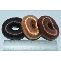 Валик (бублик, мочалка) для пучка из искусственных волос 8 см
