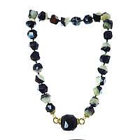 Ожерелье из агата, кварца и оникса N1025