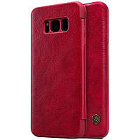 Кожаный чехол (книжка) Nillkin Qin Series для Samsung G950 Galaxy S8 Красный