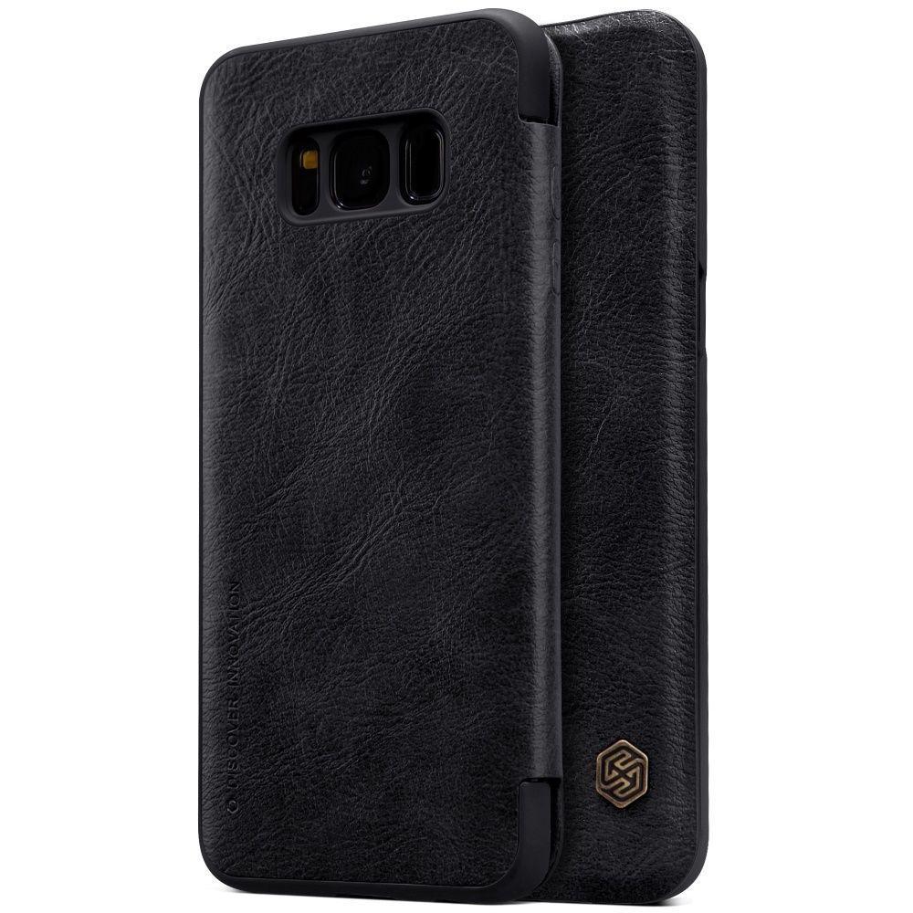 Кожаный чехол (книжка) Nillkin Qin Series для Samsung G950 Galaxy S8 Черный