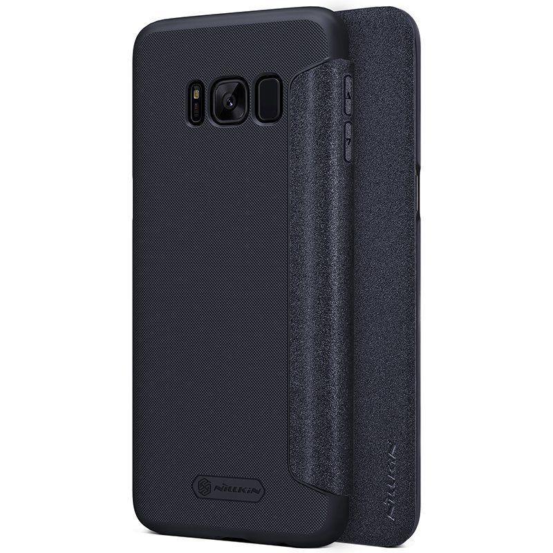 Кожаный чехол (книжка) Nillkin Sparkle Series для Samsung G950 Galaxy S8 Черный