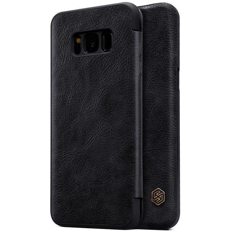Кожаный чехол (книжка) Nillkin Qin Series для Samsung G955 Galaxy S8 Plus Черный