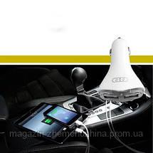 Двойное зарядное устройство переменного тока USB адаптер в авто CCTV Com Al-551 с led индикатором, фото 3