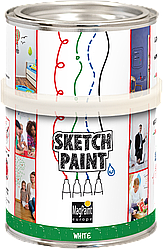 Маркерная краска Sketchpaint 0,5л /3кв.м. белая / прозрачная