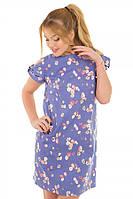 Платье прямого кроя Цветочек р. S;М; L джинс