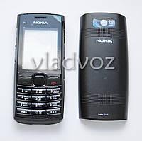 Корпус Nokia X2 02 черный с средней частью с клавиатурой AAA