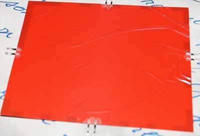Электролюминесцентная бумага (EL бумага) 125*150мм. Красный цвет, фото 2