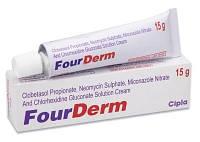 FourDerm-Fourderm 10 грамм уникальный антибактериальный крем. Лечит все виды кожных воспалений 10 гр