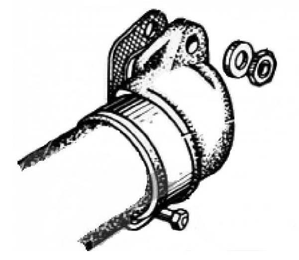 Патрубок выпускного газопровода задний левый ЗИЛ-131