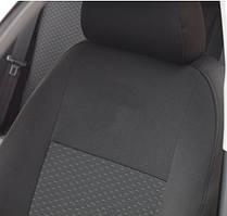 Чехлы салона Ford Conect (1+1) передние (2009-2013) Черные
