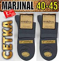 Ароматизированные мужские носки с сеткой 2-я пятка и носок MARJINAL  40-45р т.серые НМП-103