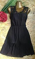Платье Монро Цветы 201 черный 42-46р