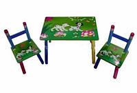 Детский столик и два стульчика из дерева «Далматинцы» 8822 киев