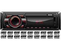 Автомагнитола Fantom FP-322 USB/SD 1 Din  Black/Red