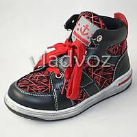 Демисезонные ботинки для мальчика красные Bessky 31р.
