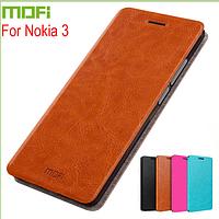 Кожаный чехол книжка MOFI для Nokia 3 (4 цвета)